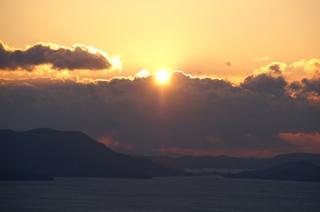 貝殻山展望台から見た初日の出