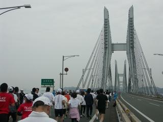 美しい斜張橋の岩黒島大橋・櫃石島大橋
