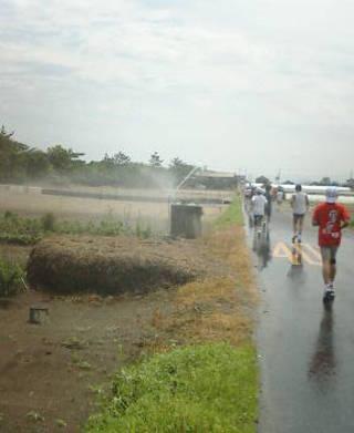 第21回 北栄町すいか・ながいも健康マラソン大会 10kmコース シャワー