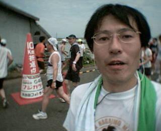 第21回 北栄町すいか・ながいも健康マラソン大会 10kmコース 折返し地点