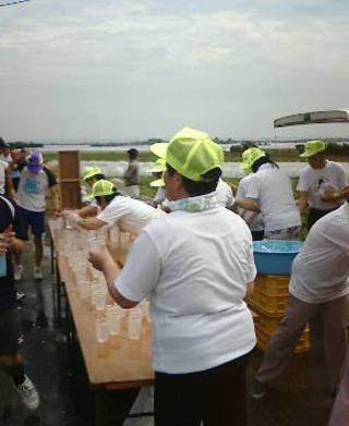 第21回 北栄町すいか・ながいも健康マラソン大会 給水所