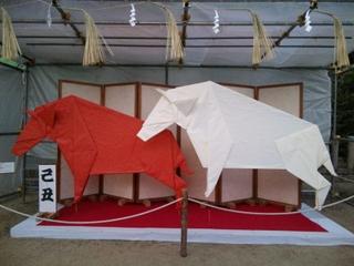 鶴崎神社 干支の巨大折紙